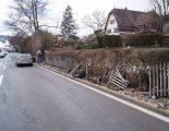 Selbstunfall Oberägeri ZG - Autofahrer prallt in Holzzaun
