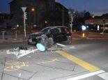 Unfall Olten SO - Fahrzeuglenker kollidiert mit Kandelaber
