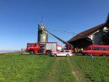 Wittenbach SG - Landwirt von der Rega ins Spital geflogen