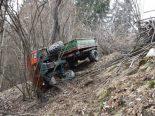 Arbeitsunfall San Carlo GR - Fahrzeug überschlägt sich
