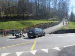 Mollis GL - Motorradlenker verunfallt