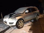 Selbstunfall in Waldstatt AR - Autofahrer touchiert Verkehrsteiler