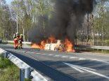 Sevelen SG - Auto auf Autobahneinfahrt in Brand geraten