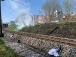 Neuhausen am Rheinfall SH - Mottbrand zwischen Bahngeleisen