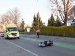 Tübach SG - Rollerfahrer nach Selbstunfall durch Bremsmanöver verletzt