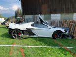 A1 Eggerstanden AI - Mann (38) mit McLaren Sportflitzer heftig verunfallt