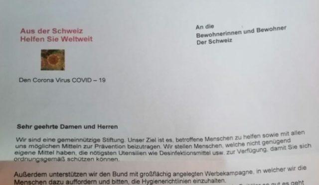 Coronavirus Solothurn - Betrüger verschicken falsche Spendenbriefe