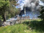 Châtel-St-Denis FR - Chalet bei Brand komplett zerstört