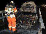 A2, Erstfeld UR - Auto während der Fahrt in Brand geraten