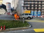 Chur GR - Auto in Vollbrand