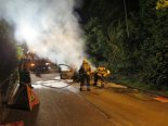 Bottmingen BL - Auto bei Brand komplett zerstört