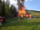 Sarnen OW - Alter Stall niedergebrannt
