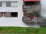 Zug - Rauch und Flammen in Mehrfamilienhaus