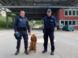 Kantonspolizei Graubünden an den Landesgrenzen im Einsatz