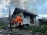 Melchnau BE - Einfamilienhaus nach Brand nicht mehr bewohnbar