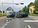 Unfall Emmen LU - Zwei Personen nach massiver Frontalkollision verletzt