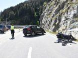 Verkehrsunfall Sumvitg GR - Motorradlenker nach Kollision mit Auto verletzt