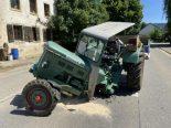 Wölflinswil AG - Unfall zwischen Postauto und Traktor