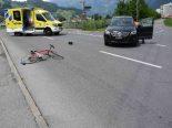 Flums SG - Unfall zwischen Auto und Rennvelo