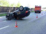 St.Gallen SG - Selbstunfall auf der A1