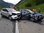 Mesocco GR - Wendemanöver auf der A13 führt zu Unfall