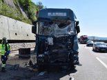 A1, Kappel SO - Heftiger Unfall zwischen zwei Sattelschleppern und einem Lastwagen