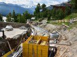 St. Moritz GR - Mann von Stahlträger getroffen