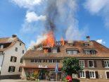 Kaiseraugst AG - Mehrfamilienhaus nach Brand unbewohnbar