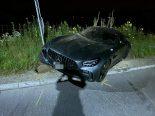 Staufen AG - 21-Jähriger mit 500 PS starkem Mercedes verunfallt