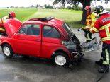 Dozwil TG - Motorraum von Auto in Brand geraten