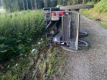Unfall Brittnau AG - Kutsche mit 7 Personen umgekippt: 5 Verletzte