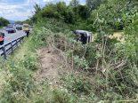 Brittnau AG - Lieferwagen überschlägt sich bei Unfall auf A2