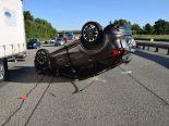Unfall A2 Egerkingen SO - Auto überschlägt sich