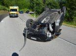 Kleinlützel SO - Lenkerin bei Autoüberschlag verletzt