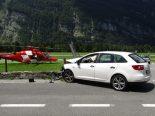 Unfall in Mollis GL - 22-Jährige prallt in Strassenmauer