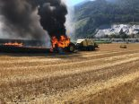 Trimmis GR - Traktor in Brand geraten