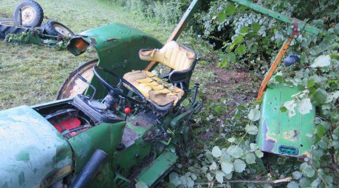 Tenniken BL - Landwirt rettet sich durch Sprung vom Traktor