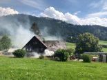 Hundwil AR - Brand in Scheune ausgebrochen