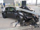 Winterthur ZH - 19-Jähriger verursacht Selbstunfall beim Bahnhof