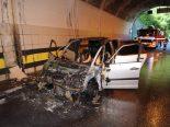 A2, Gurtnellen UR - Fahrzeugbrand im Intschi Tunnel 2