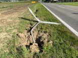 Wohlen AG - Bei Unfall in Verkehrstafel gekracht