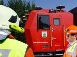 Brand in Basel - Löschzug der SBB im Einsatz