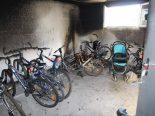 Belfaux FR - Brand im Fahrradraum eines Gebäudes