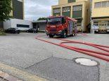Hünenberg ZG - Feuerwehreinsatz bei Produktionsfirma