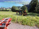 Oberägeri ZG - Rennradfahrer bei Unfall erheblich verletzt