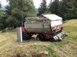 Mesocco GR - Verletzter Landwirt und auslaufendes Öl
