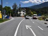 Bonaduz GR - Verkehrsunfall zwischen Töfffahrer und Autolenkerin