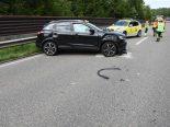St.Gallen - Drei Verletzte nach Unfall auf der A1