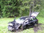 Oberiberg SZ - Fünf junge Verletzte nach heftigem Selbstunfall