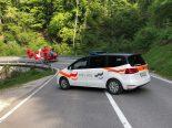 Unfall Broc FR - Motorradfahrer (20) nach Sturz bewusstlos und schwer verletzt